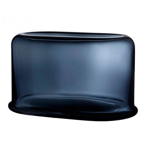 Nude Layers Vaas Breed. 39.5x23cm steel blauw