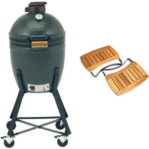 Big Green Egg Small Houtskoolbarbecue met Nest en Acacia EGG Mates