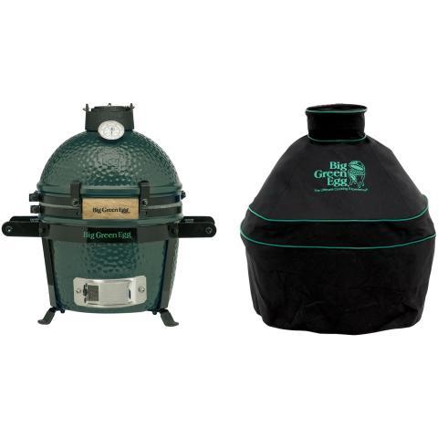 Big Green Egg Mini Houtskoolbarbecue met Carrier en Hoes