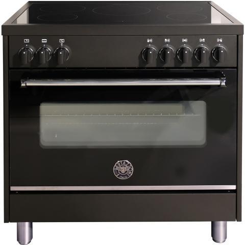 Bertazzoni Master Prime Line Inductiefornuis MAS95I MFE AN NE. 90cm zwart