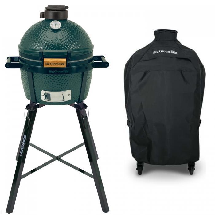 Big Green Egg Minimax Houtskoolbarbecue met Portable Nest en Hoes